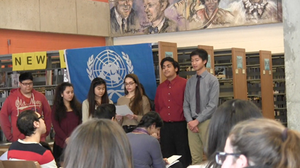 Students presenting their issues/solutions.