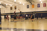 The Malden boys volleyball team facing off against Lowell. Photo by Ana Kerr.