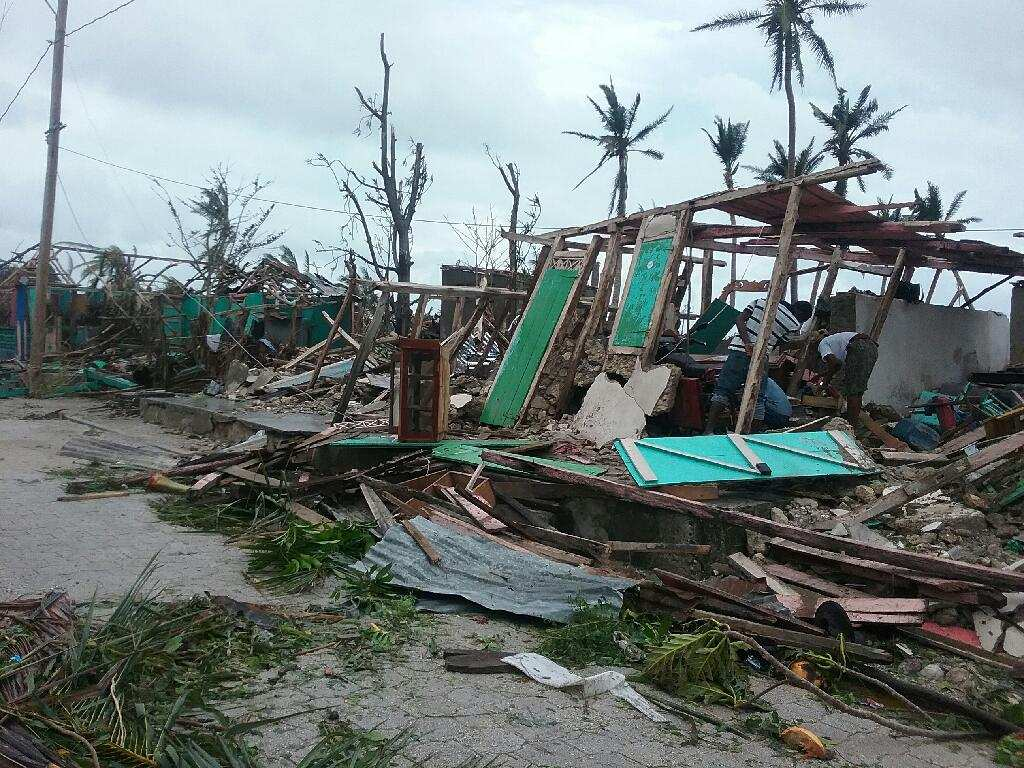 Destruction after the Hurricane. Photos submitted by Gaelle Wagnac.