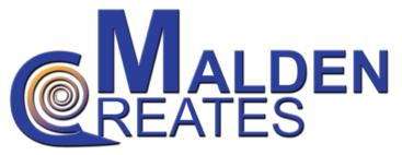 Malden Creates Logo. Logo designed Elena Martinez, of Artfort Design Studio.