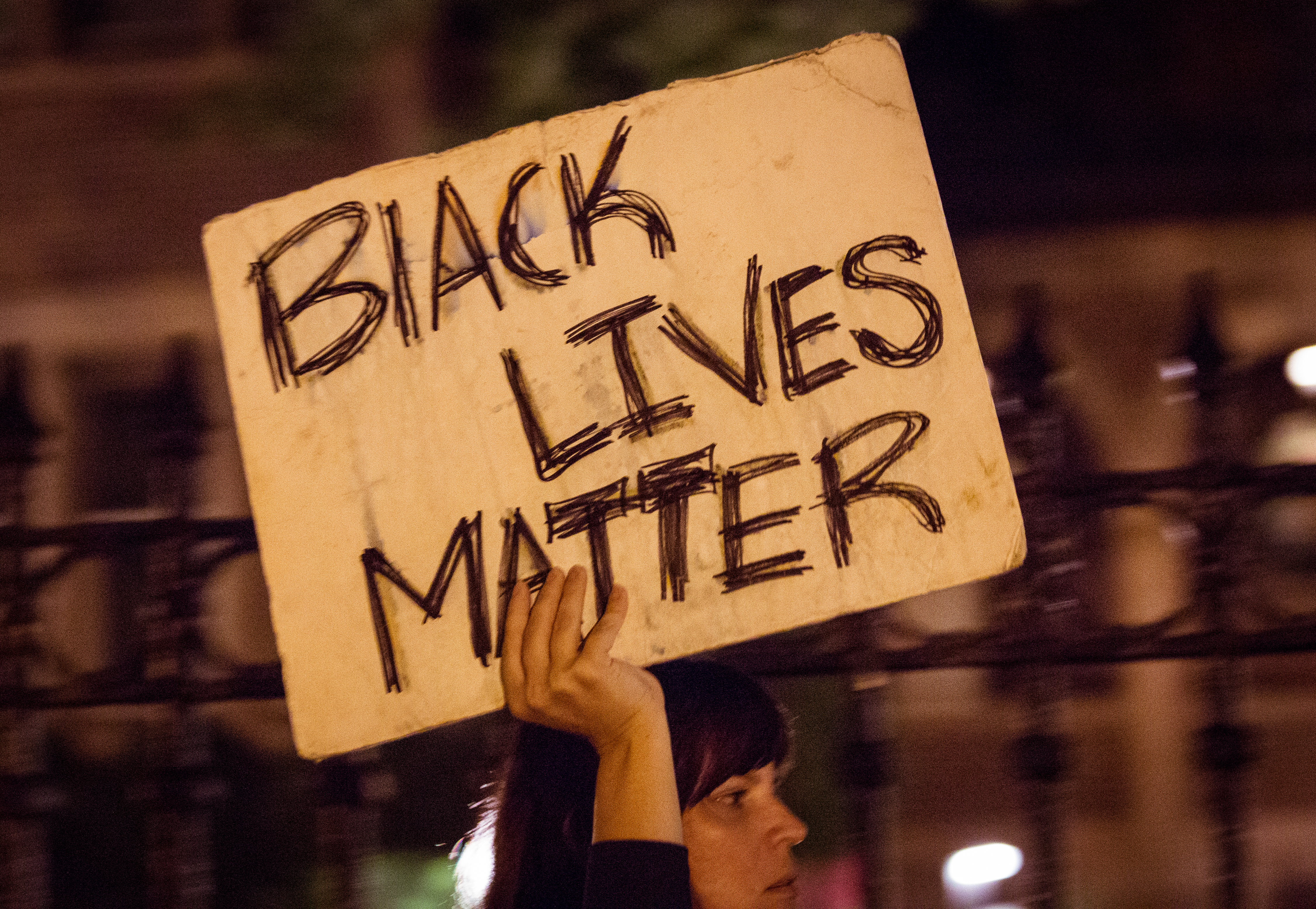 Women holding Black Lives Matter Sign.Photo by Tony Webster. Courtesy of WikiMedia.