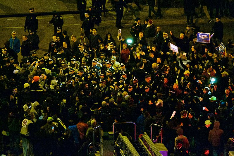 Protests against Trump. Photo from Wikimedia.