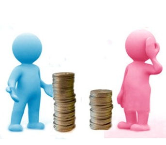 Represents how women are paid compared to  men. Photo from Wikimedia.