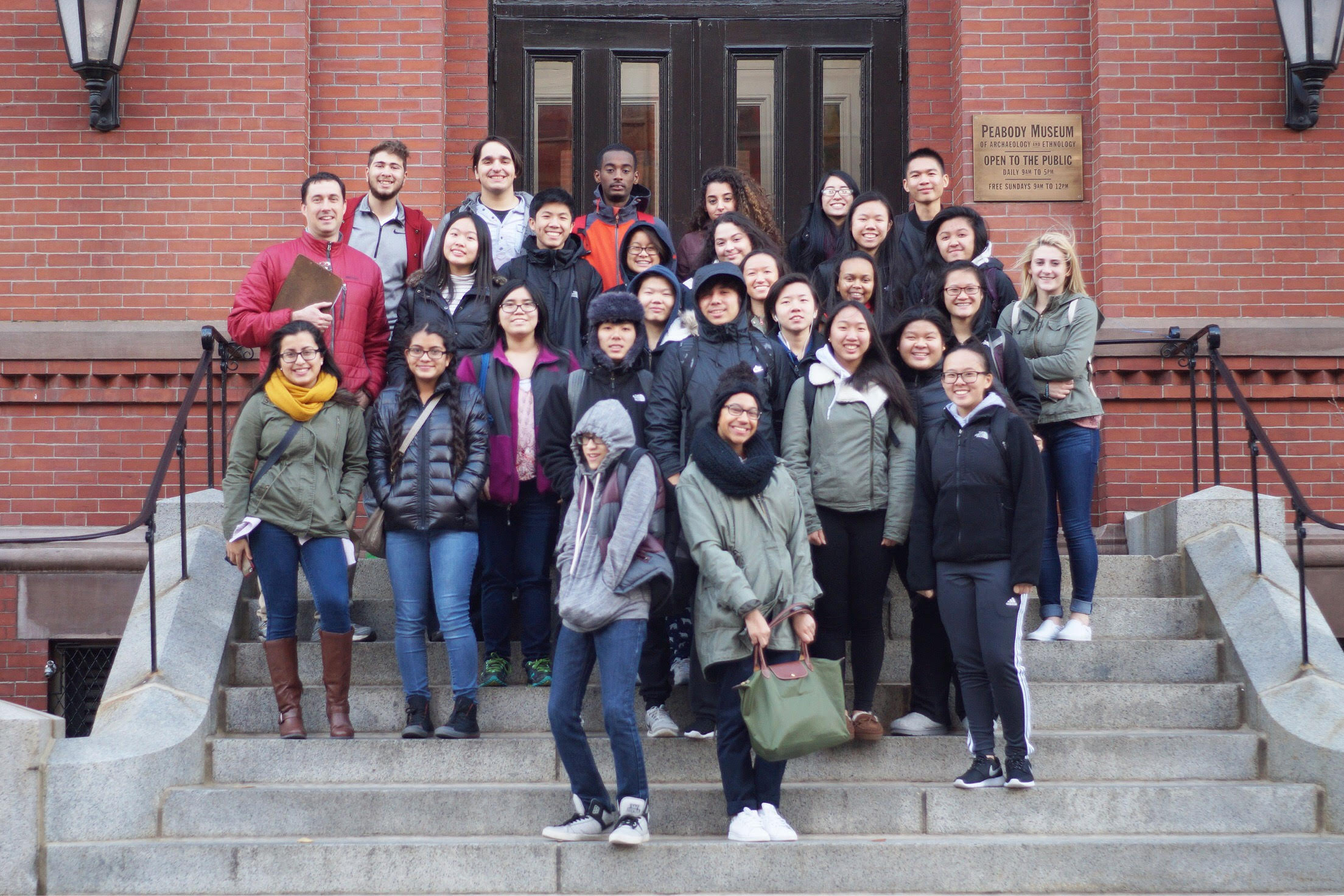 The AP Chemistry students on their field trip at Harvard. Photo submitted Meghan Yip.